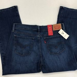 Levi's Capri Stretch Denim Blue Jeans